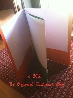 Make Your Own Multi-Pocket Folders! - The Organized Classroom Blog
