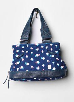 Blue Happy Hour Dots H Bag Hand Bag    http://www.pooppeepuke.com/2013/02/12/dot-bag-brooklyn-industries/