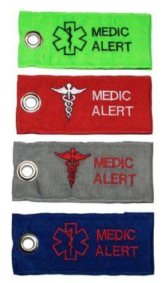 Medic Alert bag tags - cool idea.