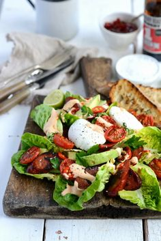 From The Kitchen: Wills' Devil Salad  (Roasted Cherry Tomatoes, Avocado, Grilled Chorizo, Creamy Chili-Lime Dressing and Grilled Ciabatta topped with a Poached Egg)