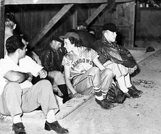 Ina Lou Spaulding, center, was one of two females on the field when her Council Bluffs Rainbows took on Tony Stone and her New Orleans Creoles on July 24, 1950, at Legion Park. Spaulding played 2½ innings and struck out in her only at bat. THE WORLD-HERALD