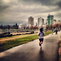 Running to the end - Vancouver, BC - iphoneography NikNaz K .