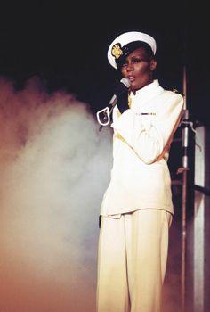 Grace Jones, sailor chic in the Eighties