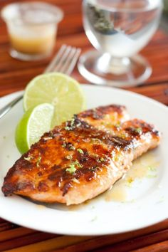Pan Seared Honey Glazed Salmon with Browned Butter Lime Sauce | JuJu Good News