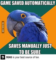 Must not forget. Thanks Paranoid Parrot!