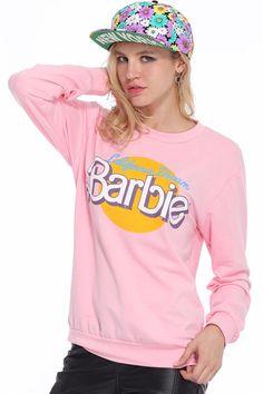 street fashion, romw barbi, cloth, print pink, pink sweatshirt, barbie, barbi print, prints, romw board