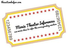 Movie Theater Inferences    - Pinned by @PediaStaff – Please Visit ht.ly/63sNtfor all our pediatric therapy pins