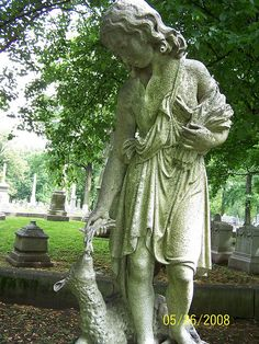 America Harding monument in Bellefountaine Cemetery St Louis MO.
