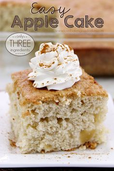 3-Ingredient Apple Cake | Love Bakes Good Cakes  - you just can't beat fall baking recipes with apples!
