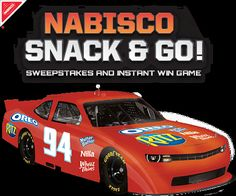 (Starts 2/1) Nabisco Snack & Go! NASCAR® Sweepstakes and Instant Win Game - #Win #NASCAR trip to Miami! Ends 9/30/14