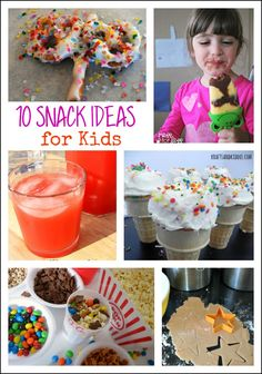 10 Kids Snack Ideas: Kids will love making and eating these yummy snacks.