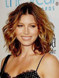 Short, Curly Hair: Photos of My Favorite Hairstyles short hair, hair colors, summer hair, medium length hairstyles, jessica biel, short curly hair, long bobs, highlight, mom hair