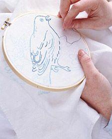 Martha Stewart bird embroidery patterns
