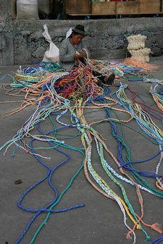 Making Cords - Ecuador