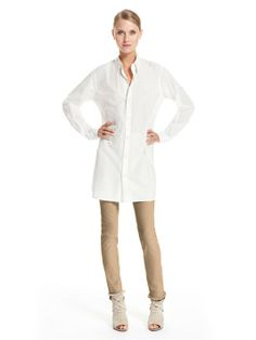 Oversized Button Down Shirt - Donna Karan