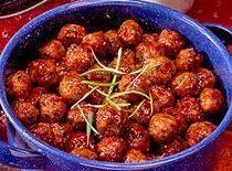Glazed Ham Ball Appetizers