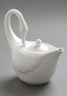 Swans Upon a Time Tea Pot, #ModCloth