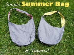 Simple Summer Bag Tutorial and Pattern by Everyday Art