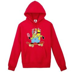 Despicable Me Minions scooter logo hoodie sweatshirt