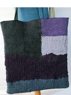 nuno felt large tote bag  by gaiagirard,