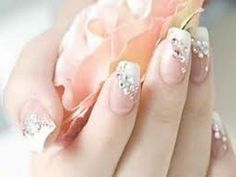 glamour nail for wedding