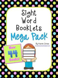 44 Sight Word Books!  Perfect for teaching sight words, guided reading groups, emergent readers, laminate and put in reading center for kids to trace sight words with dry erase markers... lots of possibilities! $