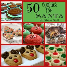 50 Delicious Cookies for Santa! From Sixsistersstuff.com #Christmas #cookies #Santa