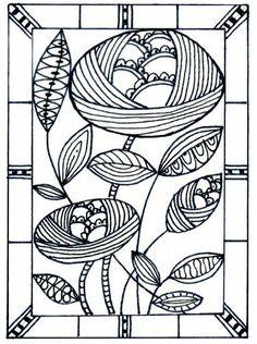 Deco style doodle by dots 'n' doodles, via Flickr