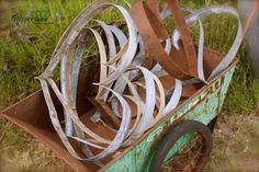 Glitterfarm - Organic Glamour — Glitterfarm Wine Barrel Ring Hearts.....gotta gets me some of these!!!!