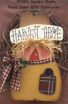 000179 (3) Harvest Thyme Scarecrows-Scarecrow, Harvest, Fall, Decorations, wood crafts, wood kits, wood blanks, Sandra Brake