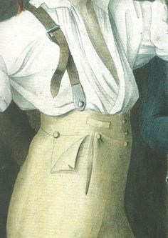 """Detail of Braces from """"The Filial and Heroic Devotion of Mademoiselle de Sombreuil in Spetember 1792"""". The drawing itself is dated 1800."""