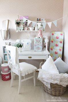 ApriCot Flag Garland @ Camillas Lantliv Blog Heart Handmade UK: An Inspiring Sewing Room