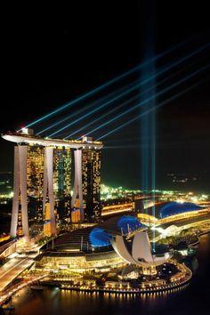 Night Sky Lights in Marina Bay Sands Hotel, Singapore