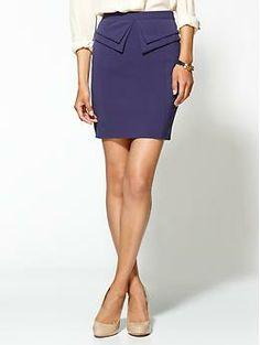 Tinley Road Peplum Mini Skirt   Piperlime