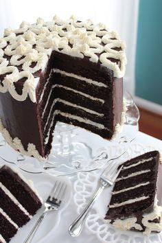 <3 Triple Chocolate Fudge Cake