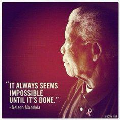 Nelson Mandela's wise words