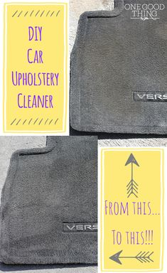 Make a simple and effective DIY car upholstery cleaner! #diy #cleaner