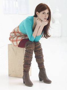 Spice up your outfit with these striped leg warmers made with Sock-Ease!