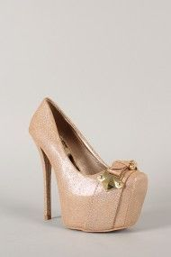Qupid Scandal-09 Hologram Buckle Platform Stiletto Pump