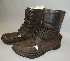 Earl Shaffer was first to walk the entire Appalachian Trail, from Georgia to Maine, in one hike, in these boots, without a guidebook.