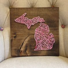 MADE TO ORDER Custom String Art State Sign by TheHonakerHomeMaker, $45.00