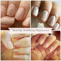sparkly wedding manicures