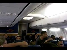 U.S. Marine singing Michael Buble on an airplane! OMG love this