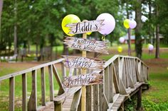 Hundred Acre Wood Classic Winnie the Pooh Party Sign