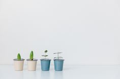 Falcon Enamelware Mini Tumblers as planters from @Noella Richman Mahe Magazine . Find them here: http://www.shoppigment.com/falcon-enamelware-mini-tumbler/