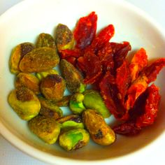 Two flavors that were made for each other. Pistachio - Sun Dried Tomatoes.