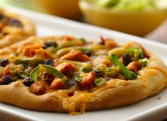 Chicken and Black Bean Tostizzas  It's a pizza… it's a tostada… it's a tostizza!