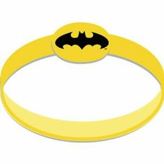 "Batman The Dark Knight Wristbands (4 count) by Hallmark. $6.03. Includes: 4 Batman The Dark Knight Wristbands.. Color: Yellow/Black. Made in China. Size: One Size Fits Most.. Package includes (4) bright yellow rubber wristbands with the Bat Signal on top. Measures approximately 3.5"" wide x 1"" high. This is an officially licensed Batman product. TM/MC & (c) DC Comics."