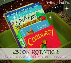 #Book rotation not only reduces clutter and #simplifies your life, but it can reignite your child's interest in #reading!