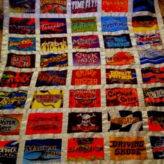 Monster Jam Flag Quilt that my Mother, Karen Crosby made : ) so proud of her!